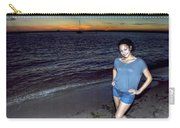 006 A Sunset With Eyes That Smile Soothing Sounds Of Waves For Miles Portrait Series Carry-all Pouch