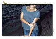 007 A Sunset With Eyes That Smile Soothing Sounds Of Waves For Miles Portrait Series Carry-all Pouch