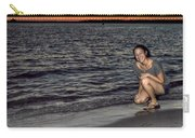 009 A Sunset With Eyes That Smile Soothing Sounds Of Waves For Miles Portrait Series Carry-all Pouch