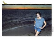 010 A Sunset With Eyes That Smile Soothing Sounds Of Waves For Miles Portrait Series Carry-all Pouch