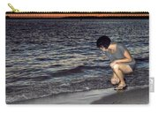 011 A Sunset With Eyes That Smile Soothing Sounds Of Waves For Miles Portrait Series Carry-all Pouch