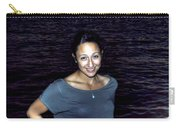 012 A Sunset With Eyes That Smile Soothing Sounds Of Waves For Miles Portrait Series Carry-all Pouch