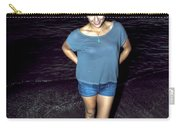 013 A Sunset With Eyes That Smile Soothing Sounds Of Waves For Miles Portrait Series Carry-all Pouch