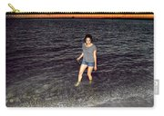018 A Sunset With Eyes That Smile Soothing Sounds Of Waves For Miles Portrait Series Carry-all Pouch