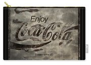 Coca Cola Sign Grungy Red Retro Style Carry-all Pouch