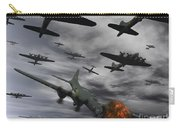 A B-17 Flying Fortress Is Set Ablaze Carry-all Pouch