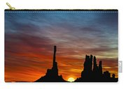 A New Day At The Totem Poles Carry-all Pouch