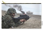 A Peruvian Marine Assaults A Beach Carry-all Pouch