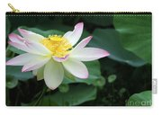 A Pink Tipped White Lotus Carry-all Pouch