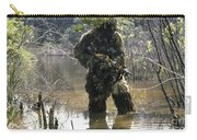 A Sniper Dressed In A Ghillie Suit Carry-all Pouch