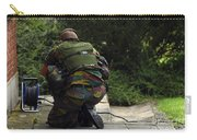A Soldier Of The Belgian Army Carry-all Pouch