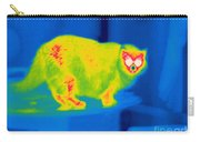 A Thermogram Of A Long Haired Cat Carry-all Pouch