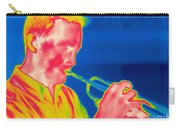A Thermogram Of A Musician Playing Carry-all Pouch
