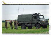 A Unimog Vehicle Of The Belgian Army Carry-all Pouch by Luc De Jaeger