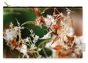 Abstract And Ice Crystals Carry-all Pouch