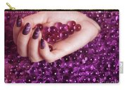 Abstract Woman Hand With Purple Nail Polish Carry-all Pouch