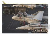 Aircraft Parked On The Flight Deck Carry-all Pouch