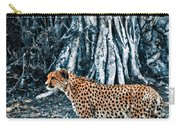 Alert Cheetah Carry-all Pouch by Darcy Michaelchuk