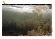 Algae In A Frozen Pond Carry-all Pouch