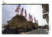 American Flags Are Displayed Carry-all Pouch