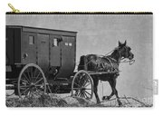 Amish Buggy Black And White Carry-all Pouch