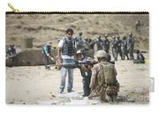 An Afghan Police Student Loads A Rpg-7 Carry-all Pouch by Terry Moore
