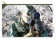 An Army Ranger Sets Up An Anpaq-1 Laser Carry-all Pouch