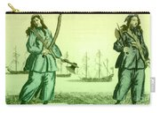 Anne Bonny And Mary Read, 18th Century Carry-all Pouch by Photo Researchers