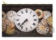 Antique Clocks Carry-all Pouch by Elena Elisseeva