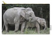 Asian Elephant Elephas Maximus Mother Carry-all Pouch