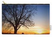 Bare Tree At Sunset Carry-all Pouch