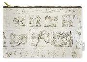 Baseball Cartoons, 1859 Carry-all Pouch