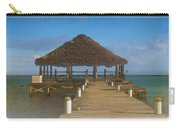 Beach Deck With Palapa Floating In The Water Carry-all Pouch