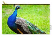 Beautiful And Pride Peacock On A Lawn Carry-all Pouch