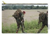 Belgian Paratroopers Red Berets Carry-all Pouch by Luc De Jaeger