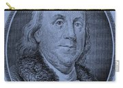 Ben Franklin In Cyan Carry-all Pouch
