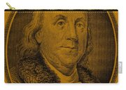 Ben Franklin In Orange Carry-all Pouch