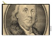 Ben Franklin In Sepia Carry-all Pouch