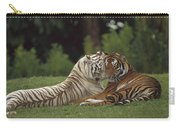 Bengal Tiger Panthera Tigris Tigris Carry-all Pouch by Konrad Wothe