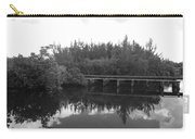 Big Sky On The North Fork River In Black And White Carry-all Pouch