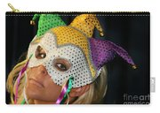 Blond Woman With Mask Carry-all Pouch by Henrik Lehnerer