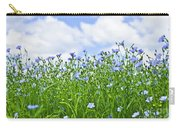 Blooming Flax Field Carry-all Pouch by Elena Elisseeva