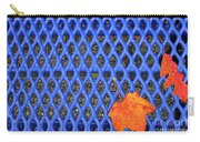 Blue Bench And Autumn Leaves Carry-all Pouch