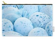 Blue Easter Eggs Carry-all Pouch by Elena Elisseeva
