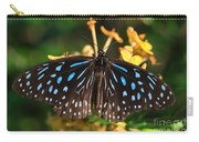 Blue Glassy Tiger Butterfly Carry-all Pouch