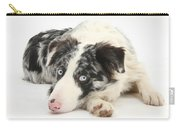 Blue Merle Border Collie Carry-all Pouch
