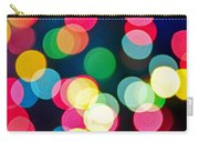 Blurred Christmas Lights Carry-all Pouch by Elena Elisseeva