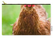 Brown Hen On A Lawn Carry-all Pouch