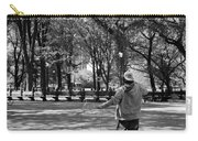 Bubble Boy Of Central Park In Black And White Carry-all Pouch