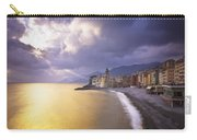 Buildings Along The Coast At Sunset Carry-all Pouch